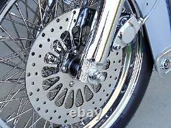 HARLEY FRONT ROTOR SET 11.5 With CHROME BOLTS FOR TOURING BAGGER MODELS 1984-2007