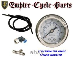 Harley Air Ride Kit For Bagger And Touring 1994-20 With 2 White Fairing Gauge