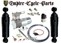 Harley Bagger Touring Air Ride Suspension Kit 94-2019 Covered Style Shock