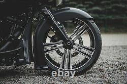 Harley-Davidson Front Fender Kit For 21X5.5 Bulldog Fat Tire Wheels Bagger