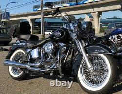 Harley Fat Spoke 16x3.5 40 Fat Front & Rear Fits Touring Bagger Models 2000-2008