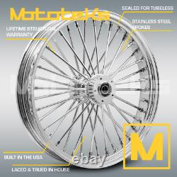 Harley Fat Spoke Wheel 21x3.5 40 Fat Stainless Spokes Touring Bagger USA Built