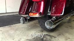 Harley Touring Bagger Megaphone Slip On Mufflers Exhaust Pipes Fits 95-16 Chrome