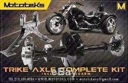 Harley Trike Axle Conversion Kit + Swingarm Fits Harley Touring Bagger 2002-pres