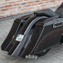 Harley-davidson 7 Stretch And 5 Extended Down Bagger Saddlebags 96-13