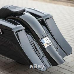 Harley-davidson Bagger Saddlebags And Fender Set 5 Extended, 7' Stretch
