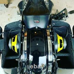 Harley saddlebag 10 FRONT MOUNT speaker rings & install kit 2014-20 SPL BAGGER