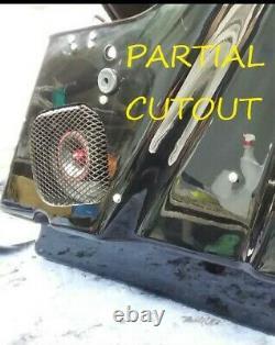 Harley saddlebag QUAD 6x9 speaker rings & install kit 1994-2013 SPL BAGGER AUDIO