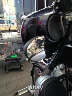 KST Kustoms Black Mirror Brackets Adapter Harley Touring Batwing Bagger 14-21