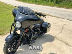 KST Kustoms Gloss Black 12 Mayhem Bagger Handlebars Bars Harley Touring Batwing
