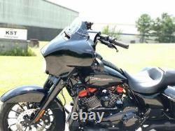 KST Kustoms Gloss Black 14 Mayhem Bagger Handlebars Bars Harley Touring Batwing