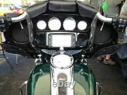 KST Kustoms Polished 10 Mayhem Bagger Handlebars Bars Harley Touring Batwing