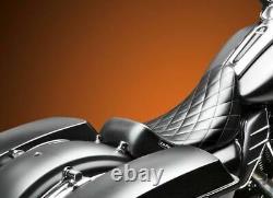LePera Barebones Diamond Stitch Solo Seat 08-2020 Harley Touring Bagger Dresser
