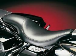 LePera Black Silhouette Front Rear 2-Up Seat Harley Touring Dresser Bagger 02-07
