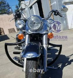 Mutazu Bagger Devil Custom Crash Bar Engine Guard for Harley Touring Models 97-u