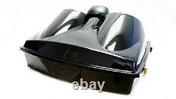 Mutazu Bagger Dual 8 Speaker Lid with Razor Tour Pak for 97-13 Harley Touring