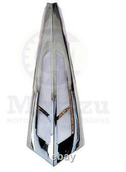 Mutazu Custom Chrome Chin Spoiler Scoop for Harley Touring Model Bagger FLH FLT