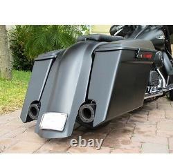 New Harley Davidson 6 Strerched Saddlebags & Rear Fender For Touring Flh Bagger
