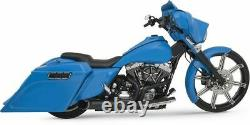 New Python Black Rayzer Razer 2-Into-1 Exhaust Pipe System Harley Touring Bagger