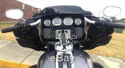 Paul Yaffe Chrome 8 Monkey Bagger Bar Handlebar Ape Hanger Harley Batwing FLHT