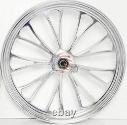 Polished Manhattan 26 3.5 Billet Front Wheel Rim Harley Touring Dual Disc Bagger
