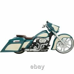 Python Chrome Rayzer Razer 2-Into-1 Exhaust Pipe System Harley Touring Bagger