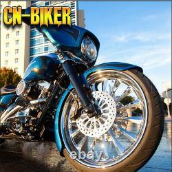 Raked Triple Trees 6 Degree Bolt On Kit For Harley Touring Bagger 23 Wheel 14+