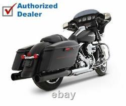 Rinehart Black 4 Slip-On Mufflers Exhaust 17-2020 Harley Touring Bagger Dresser