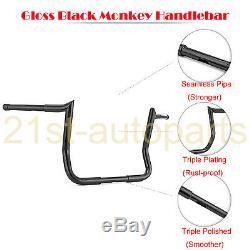 Rise 14 Horn Monkey Bagger Ape Hanger Handlebar For Harley Electra Street Glide
