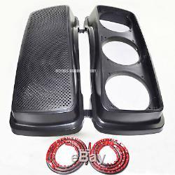 Saddlebag Triple 6.5 Speaker Lids Seal For HD Harley Touring Bagger 1993-2013
