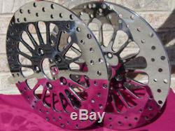 Spoke Front Brake Rotor Pair Parts For Harley Bagger Touring