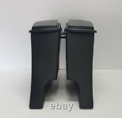 Stock Lids 6 Stretched Saddle Bags Harley Flh Bagger Dual Exhaust Dresser Flh