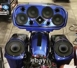 Tour pack Harley Davidson Bagger competition Series Stereo