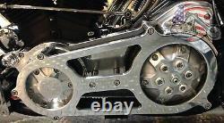Ultima 2 Bagger Billet Polished Open Primary Belt Drive Harley Touring & FXR