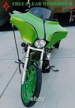 Usa-biker Custom Bagger Harley Batwing Fairing Windshield Softail Heritage