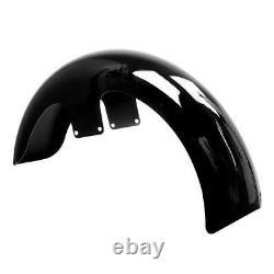 Vivid Black 21 Wheel Wrap Front Fender Fit For Harley Touring Road Glibe Bagger