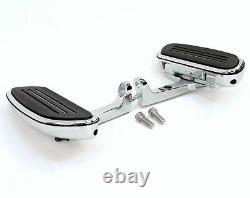 Wyatt Gatling Chrome Passenger Floorboard Mount Kit Harley Touring Bagger 93-20